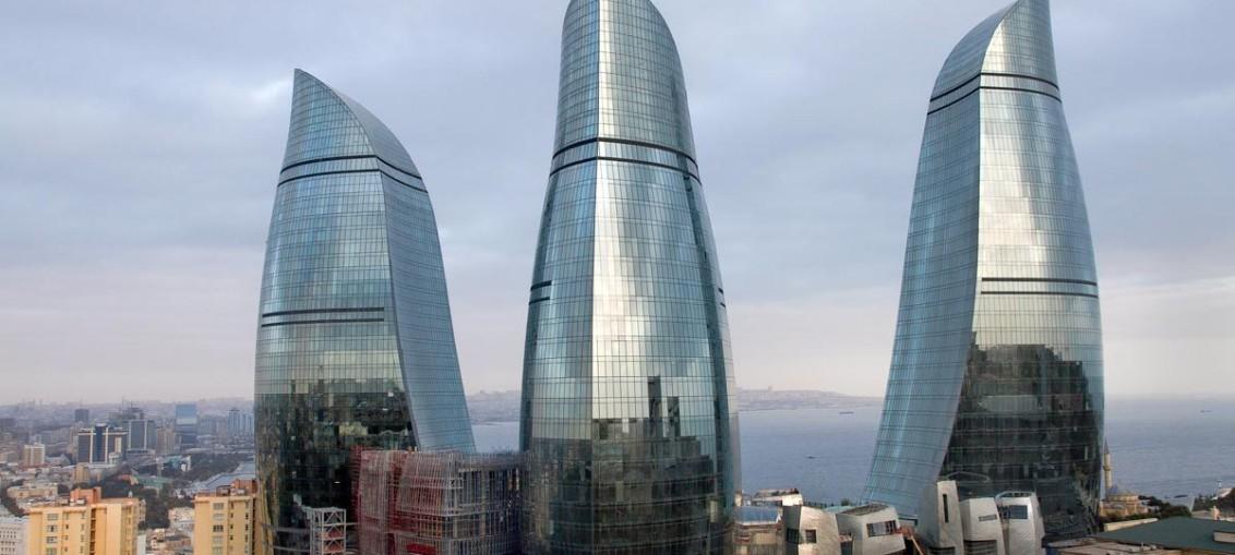 Пламенные башни в Баку (Азербайджан)