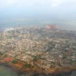 Вид на город Конакри