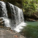 Водопад в тропическом лесу