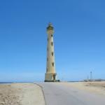Старый каменный Калифорнийский маяк вблизи Тьерра-дель-Соль