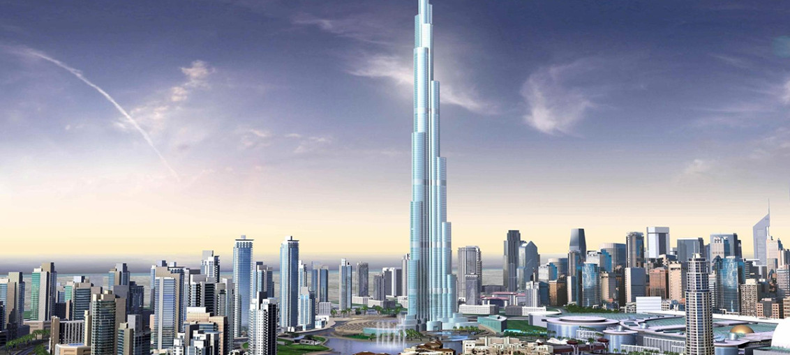 Небоскреб Бурдж-Халиф в Дубае (ОАЭ)