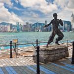 Аллея Звезд в Гонконге (статуя Брюса Ли)