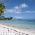 Пляж на острове Уполу
