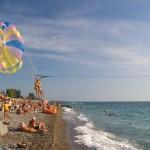 Пляжи в Гагре