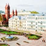Красный костёл на площади Независимости (Минск)